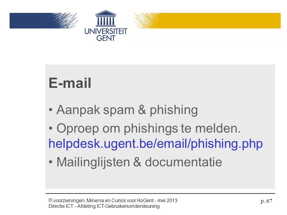 E-mail Aanpak spam & phishing