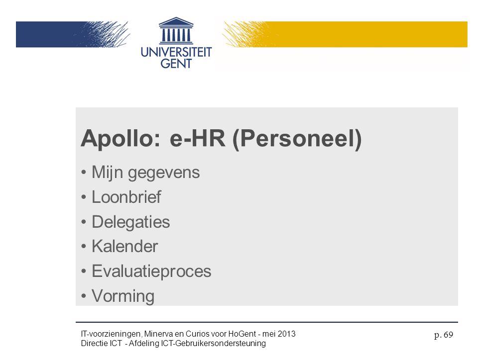 Apollo: e-HR (Personeel)