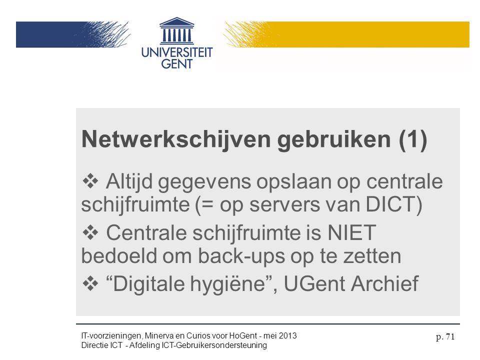 Netwerkschijven gebruiken (1)