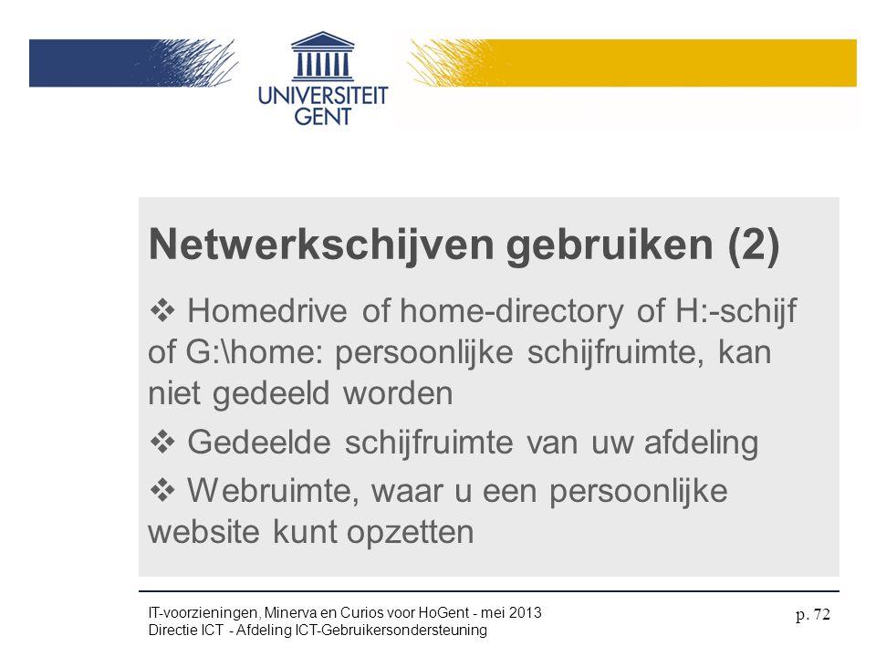 Netwerkschijven gebruiken (2)