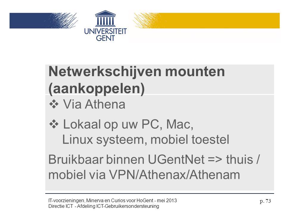 Netwerkschijven mounten (aankoppelen)