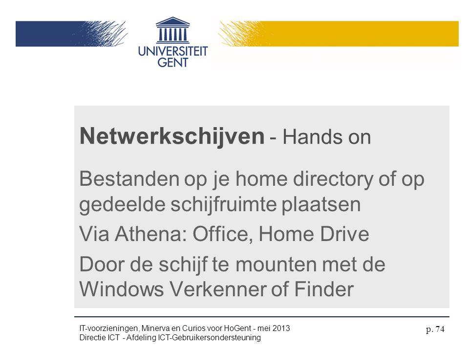 Netwerkschijven - Hands on