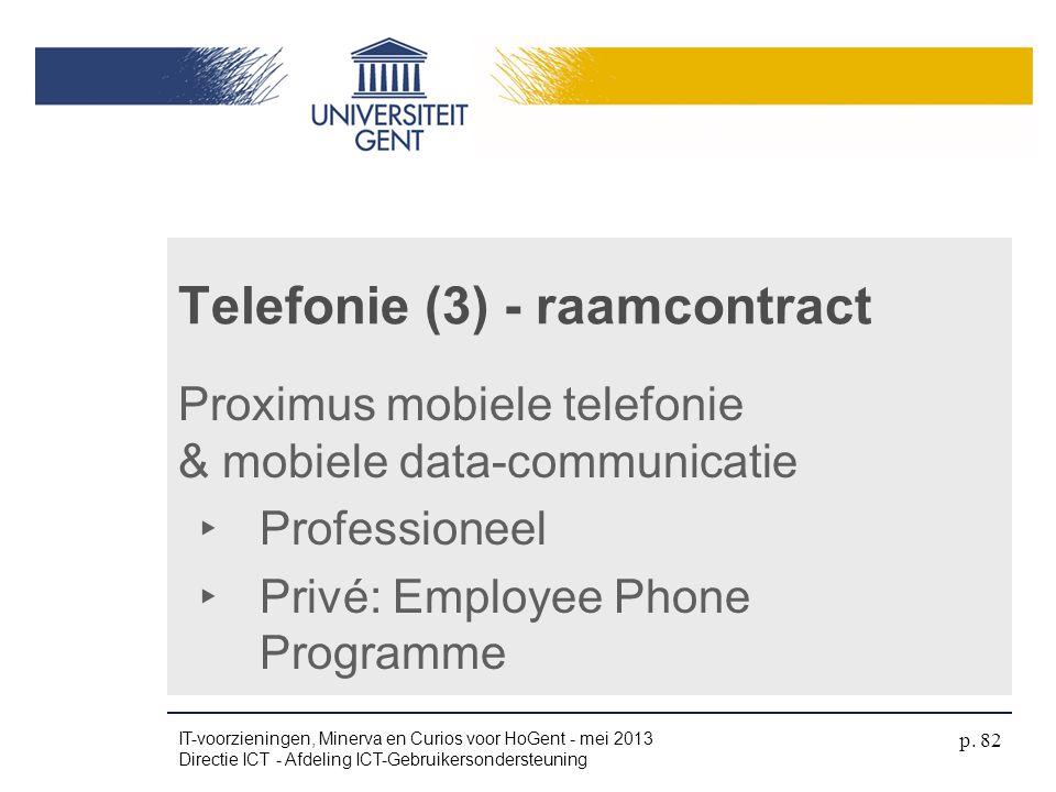 Telefonie (3) - raamcontract