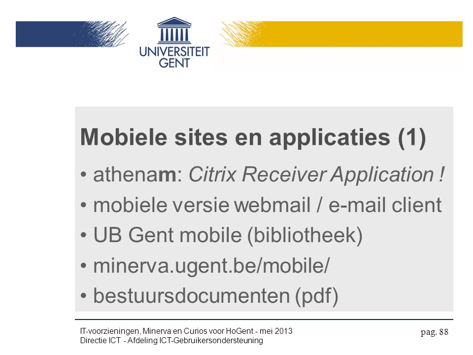 Mobiele sites en applicaties (1)
