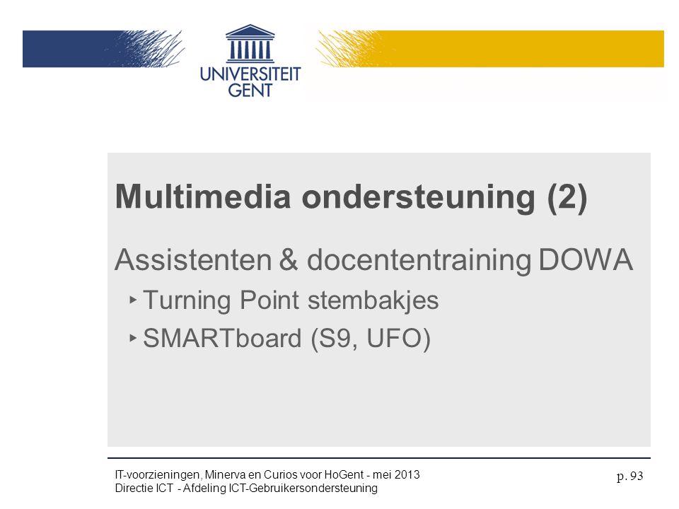Multimedia ondersteuning (2)