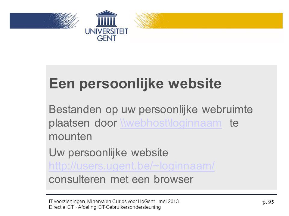 Een persoonlijke website