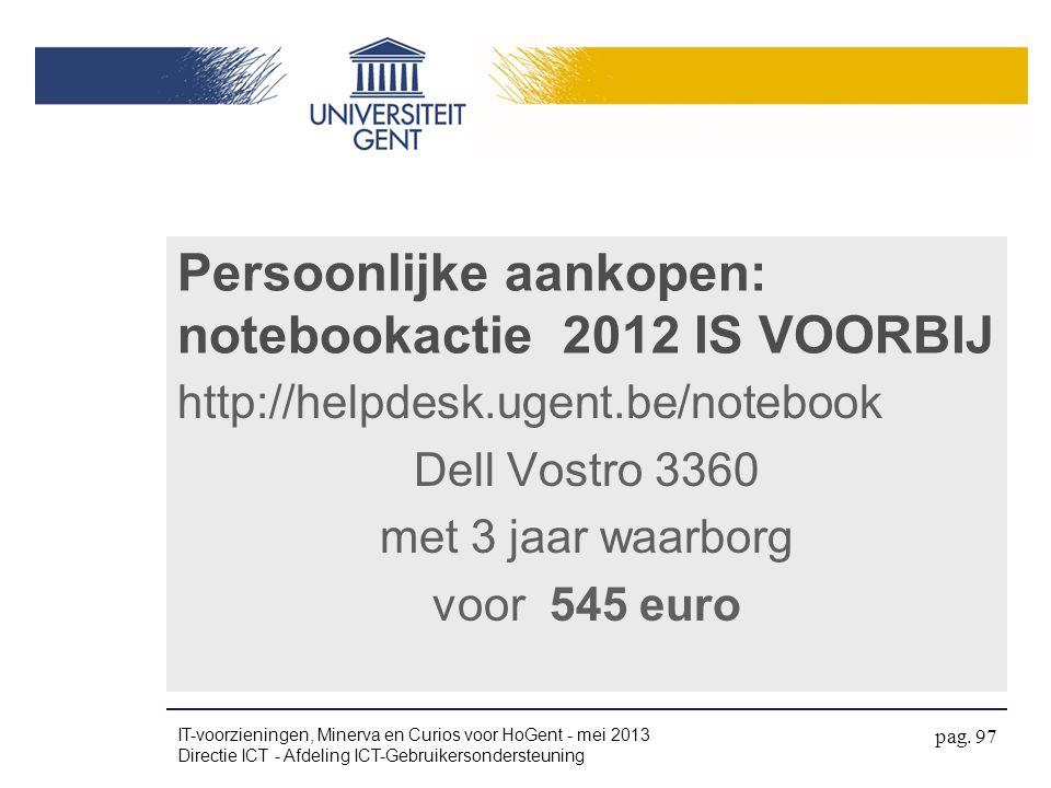 Persoonlijke aankopen: notebookactie 2012 IS VOORBIJ