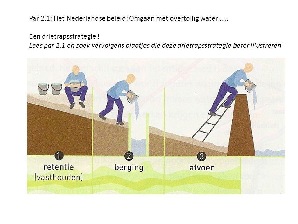 Par 2.1: Het Nederlandse beleid: Omgaan met overtollig water……