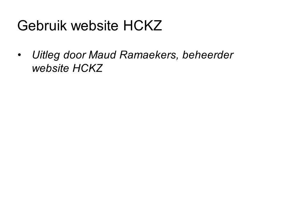 Gebruik website HCKZ Uitleg door Maud Ramaekers, beheerder website HCKZ.