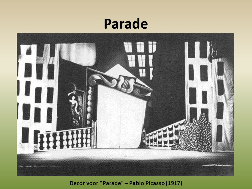 Decor voor Parade – Pablo Picasso (1917)
