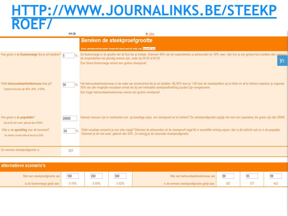 http://www.journalinks.be/steekproef/