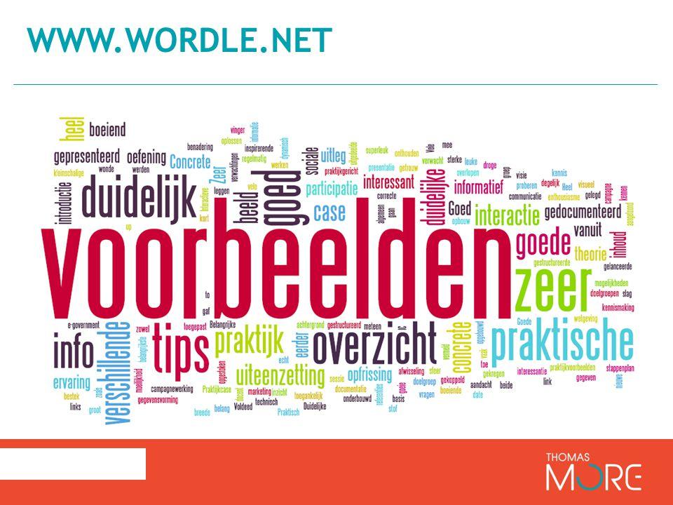 www.Wordle.net Positief: Concrete voorbeelden; belangrijke voorbeelden