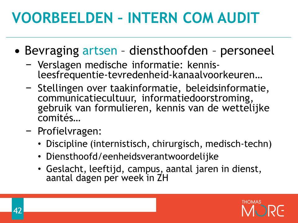 Voorbeelden – intern com audit