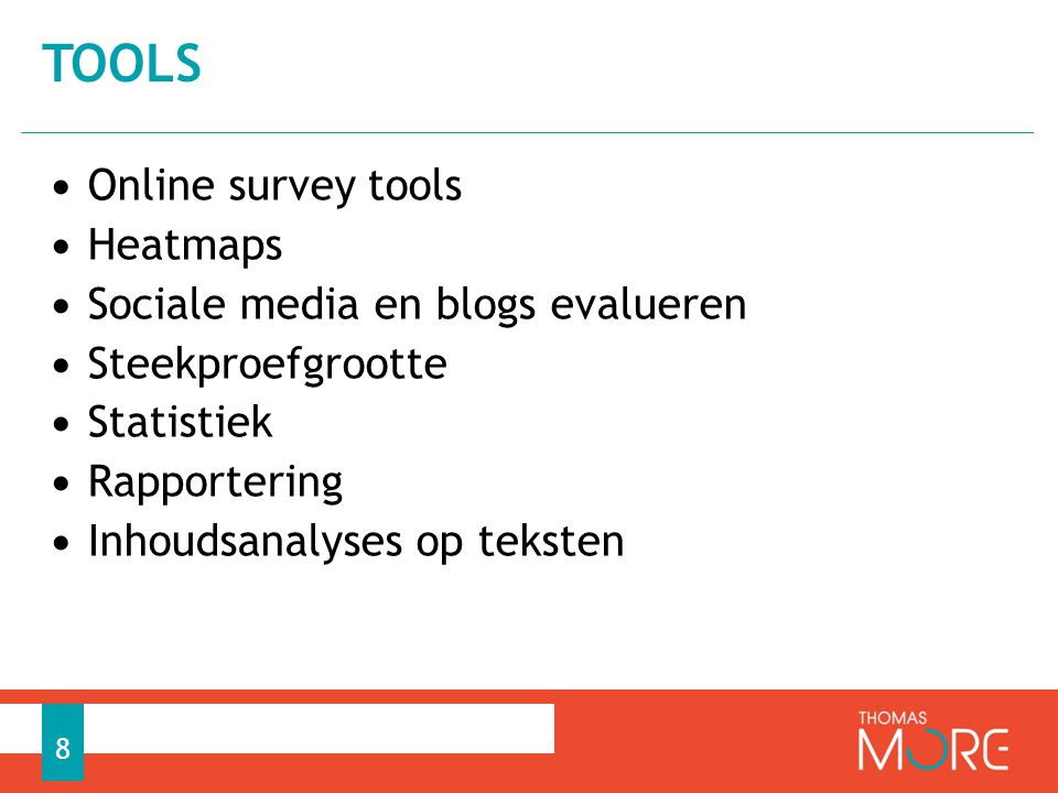 tools Online survey tools Heatmaps Sociale media en blogs evalueren