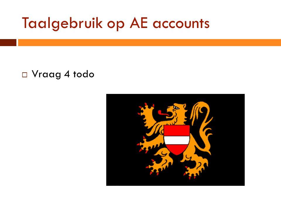 Taalgebruik op AE accounts
