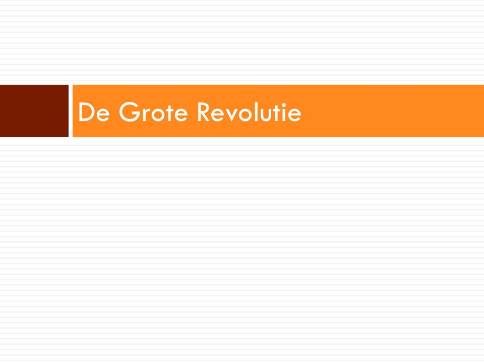 De Grote Revolutie
