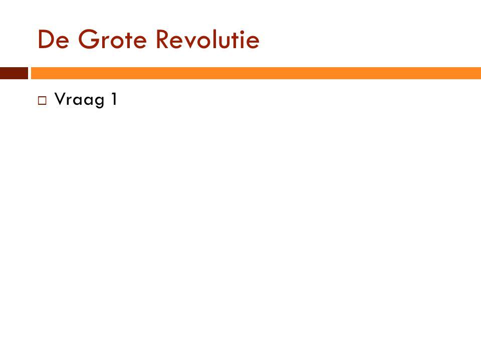De Grote Revolutie Vraag 1