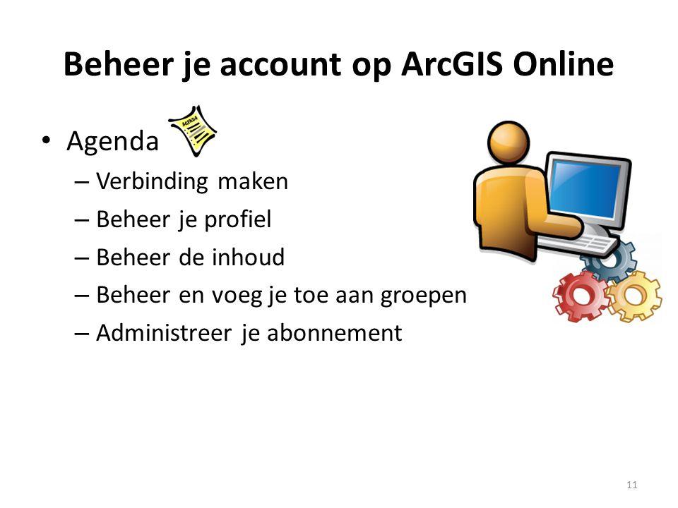 Beheer je account op ArcGIS Online