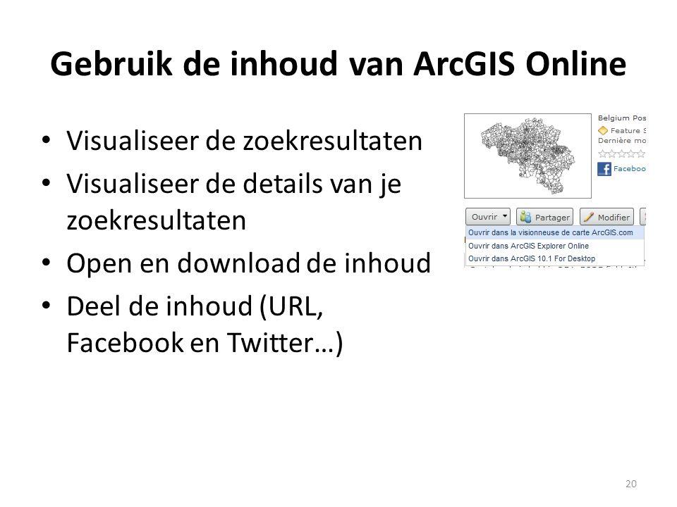 Gebruik de inhoud van ArcGIS Online