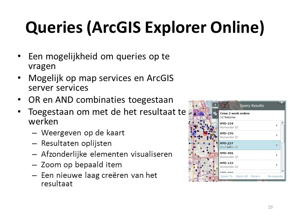 Queries (ArcGIS Explorer Online)