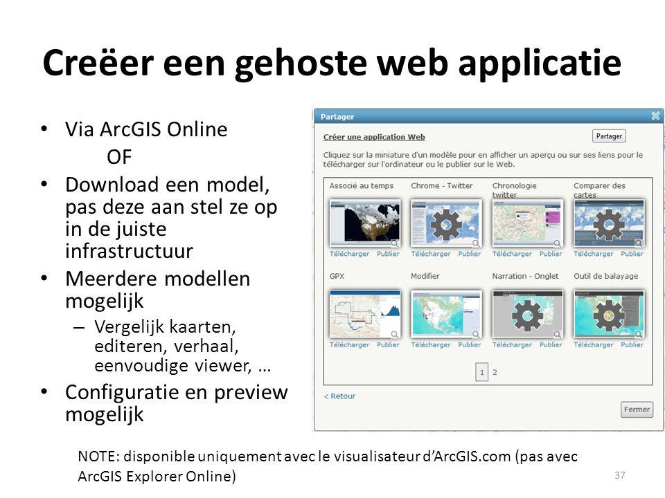 Creëer een gehoste web applicatie