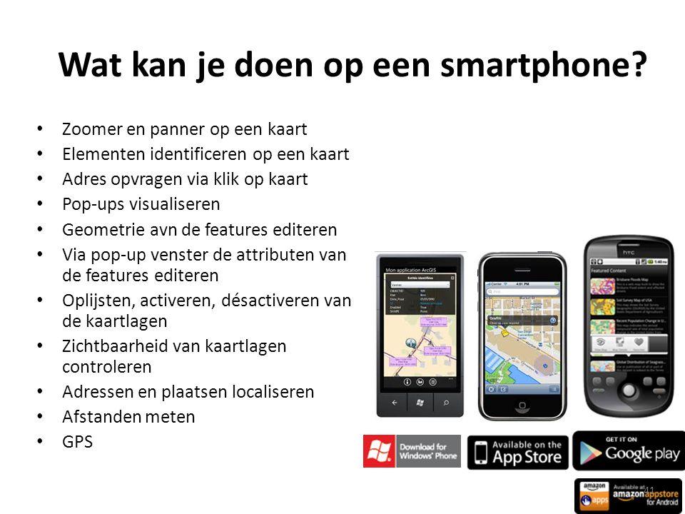 Wat kan je doen op een smartphone