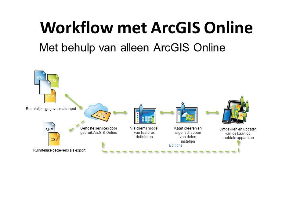 Workflow met ArcGIS Online
