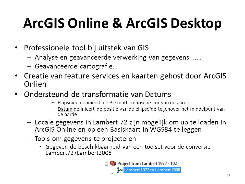 ArcGIS Online & ArcGIS Desktop