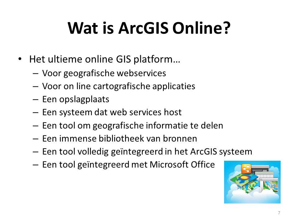 Wat is ArcGIS Online Het ultieme online GIS platform…