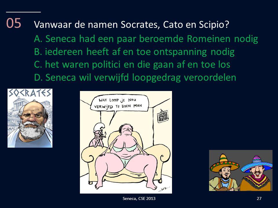 05 Vanwaar de namen Socrates, Cato en Scipio