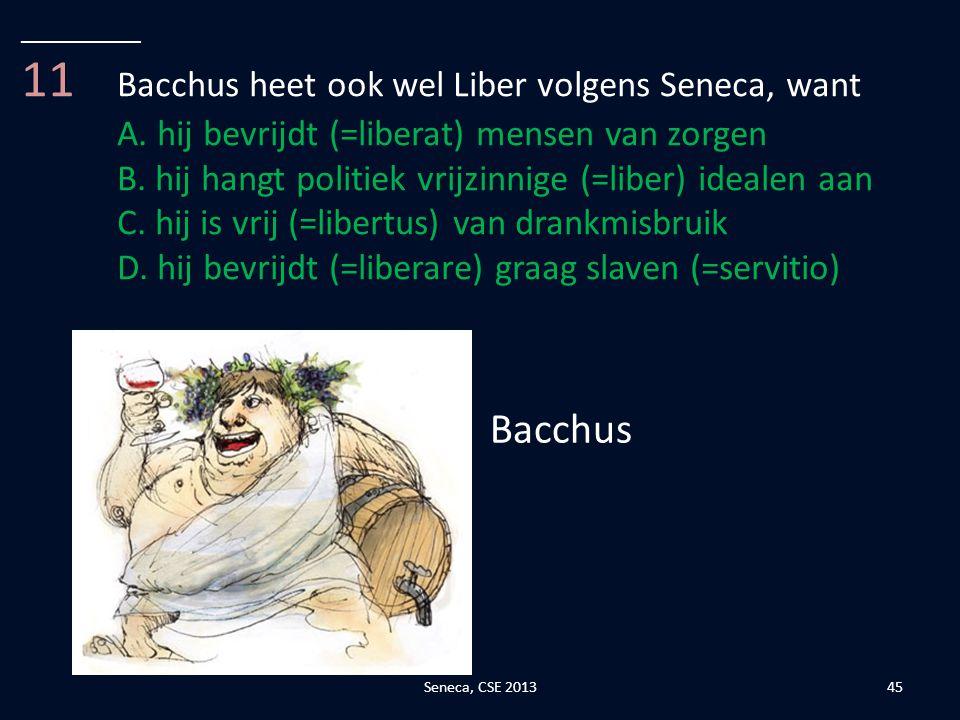 11 Bacchus heet ook wel Liber volgens Seneca, want
