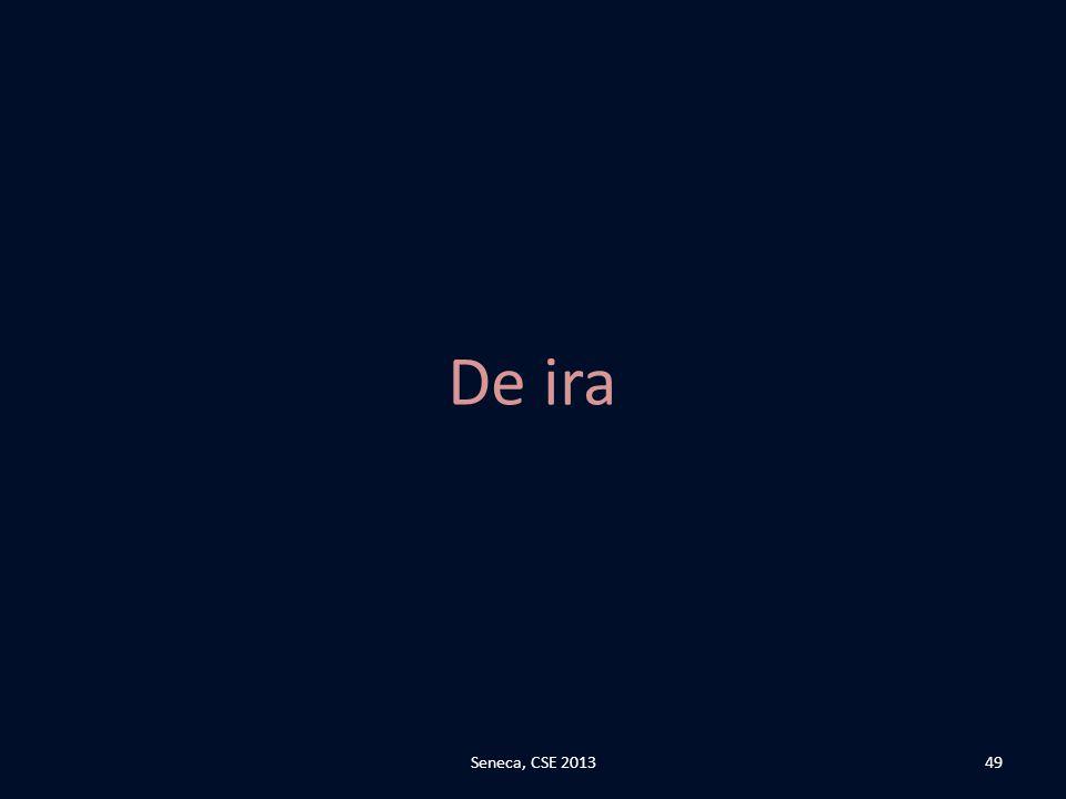 De ira Seneca, CSE 2013