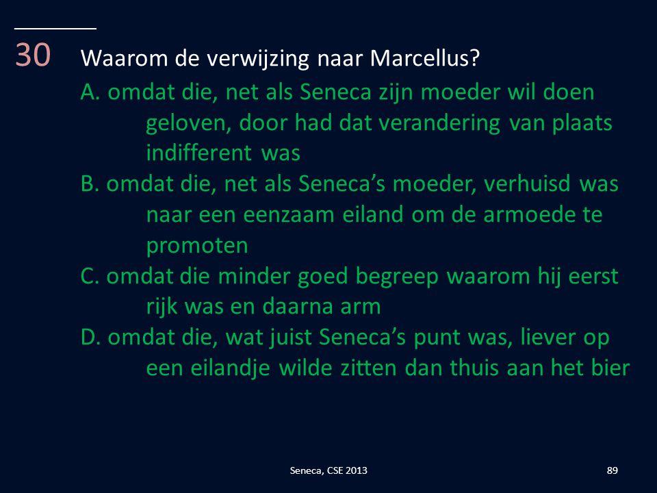 30 Waarom de verwijzing naar Marcellus