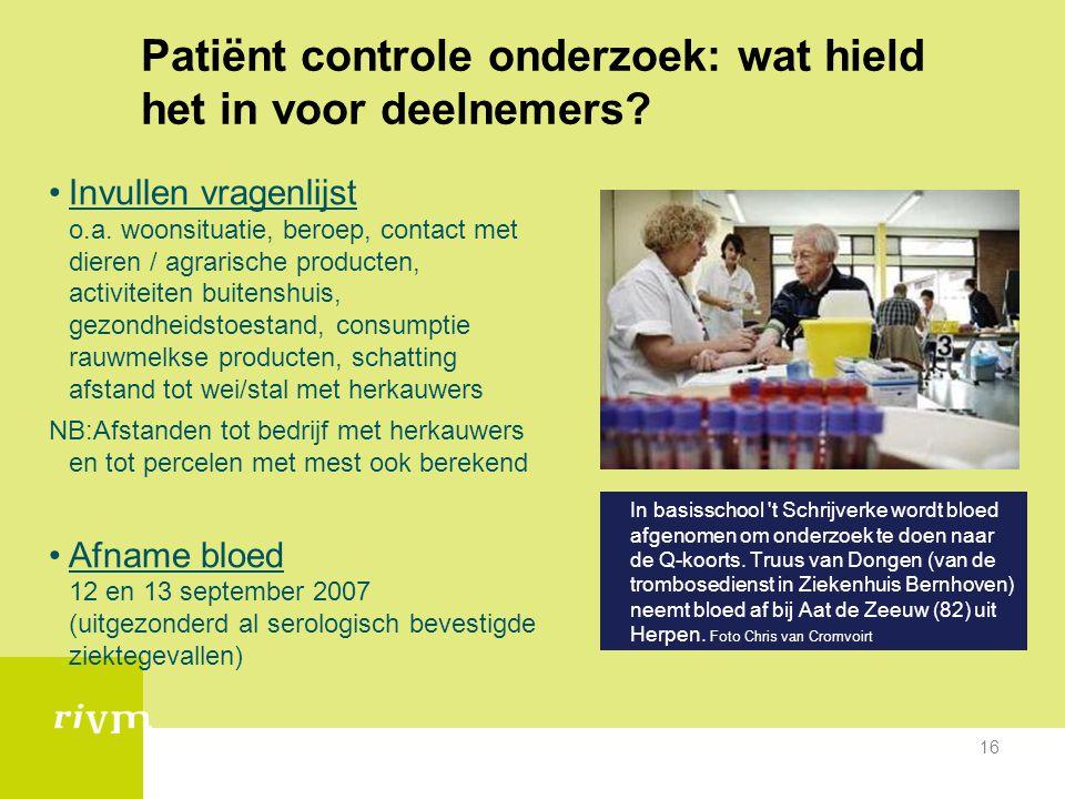 Patiënt controle onderzoek: wat hield het in voor deelnemers