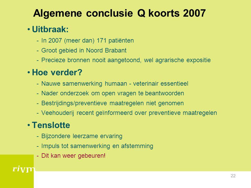 Algemene conclusie Q koorts 2007