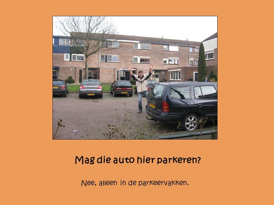Mag die auto hier parkeren