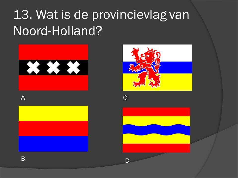 13. Wat is de provincievlag van Noord-Holland