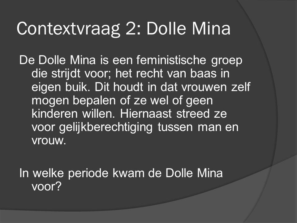 Contextvraag 2: Dolle Mina