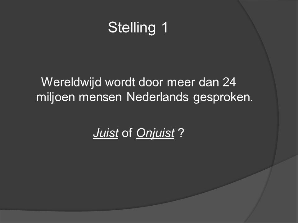 Wereldwijd wordt door meer dan 24 miljoen mensen Nederlands gesproken.