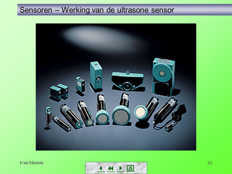 Sensoren – Werking van de ultrasone sensor
