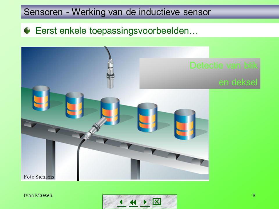 Sensoren - Werking van de inductieve sensor