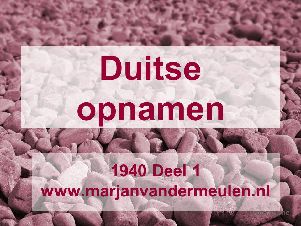 1940 Deel 1 www.marjanvandermeulen.nl
