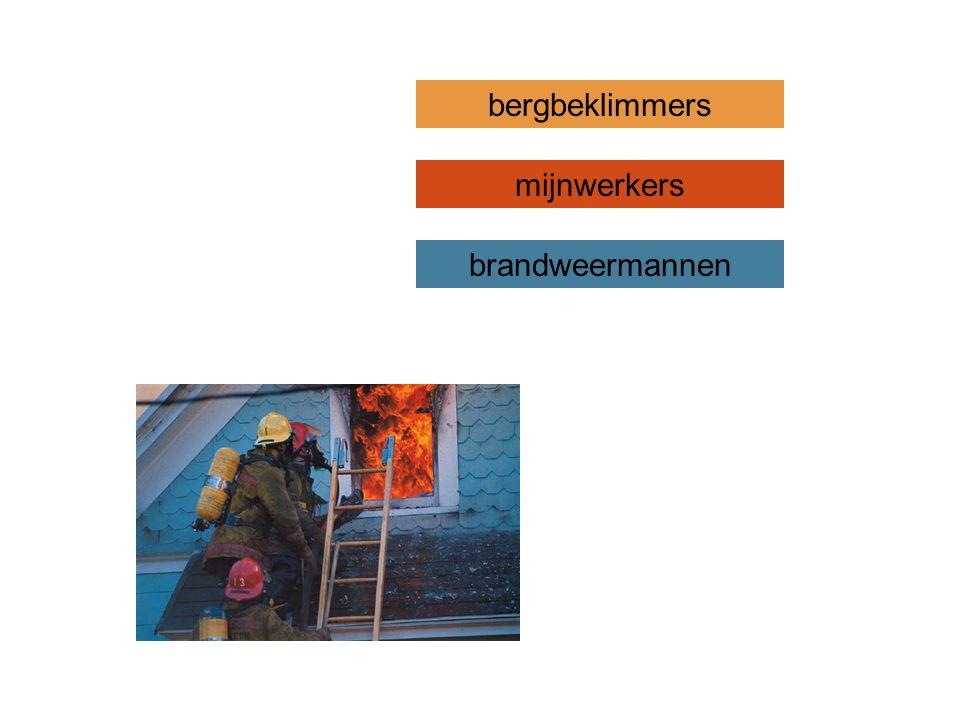 bergbeklimmers mijnwerkers brandweermannen