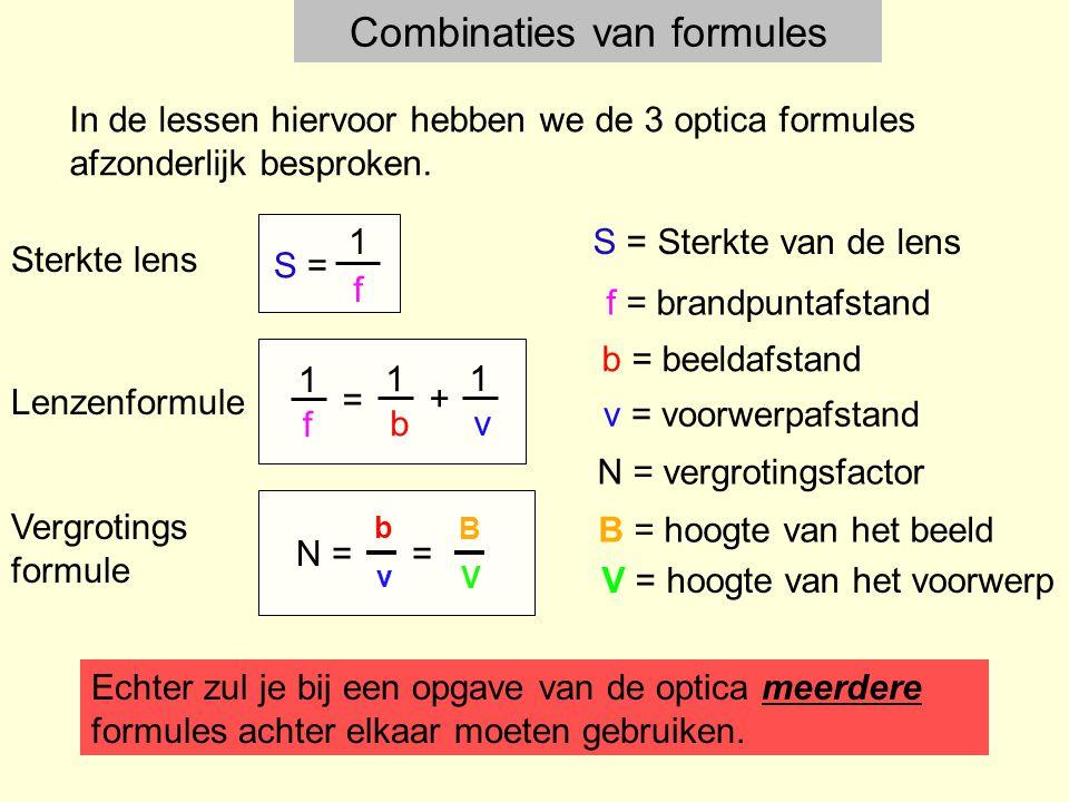 Combinaties van formules