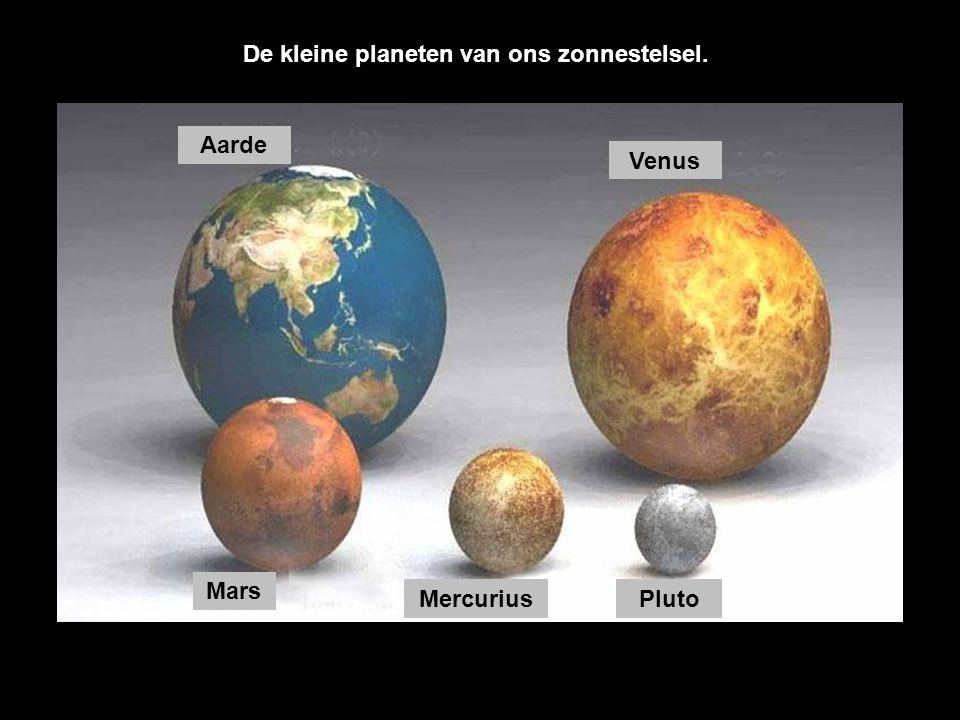 De kleine planeten van ons zonnestelsel.