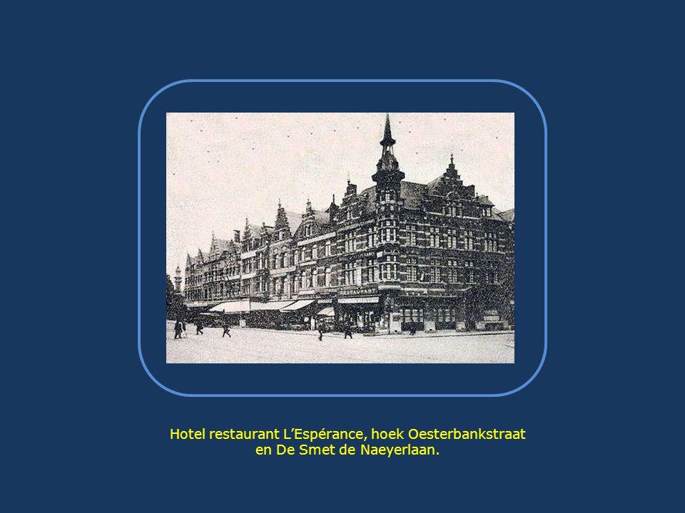 Hotel restaurant L'Espérance, hoek Oesterbankstraat