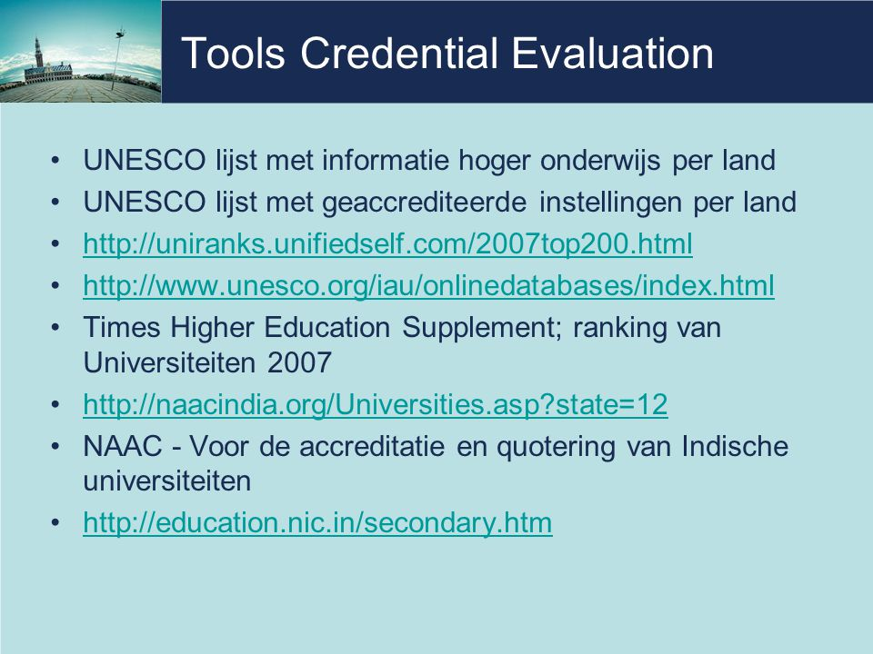 Tools Credential Evaluation