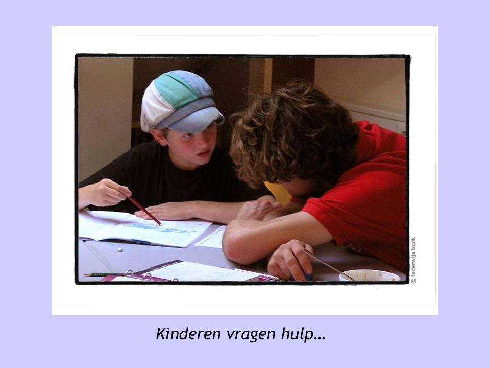 Kinderen vragen hulp…