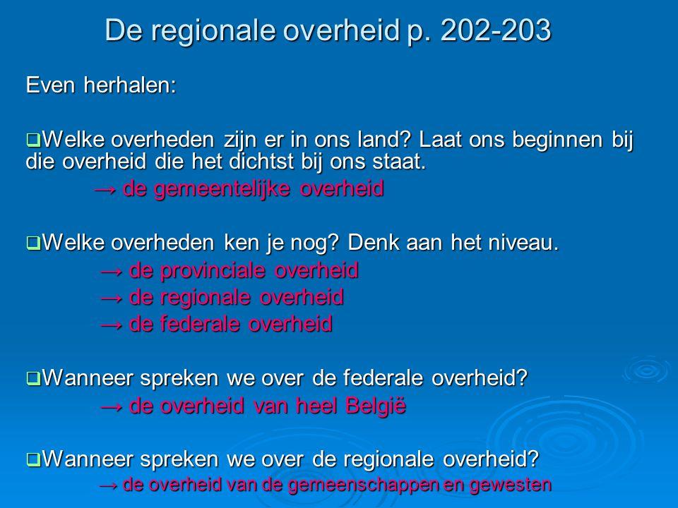 De regionale overheid p. 202-203