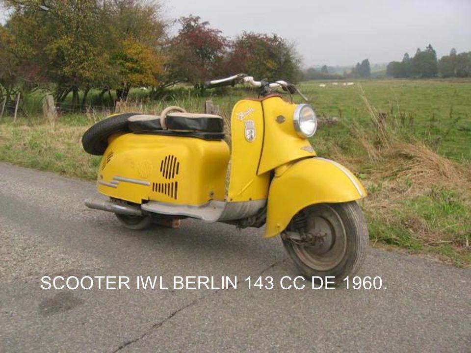SCOOTER IWL BERLIN 143 CC DE 1960.